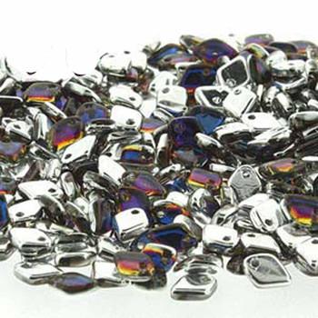 Crystal Volcano Czech Glass Dragon Scale Bead 1 5x5mm 9 5 Grams Drg329942-Tb