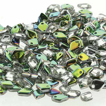 Vitrail Czech Glass Dragon Scale Bead 1 5x5mm 9 5 Grams Drg328101-Tb
