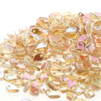 Yellow Rainbow Czech Glass Dragon Scale Bead 1 5x5mm 9 5 Grams Drg398531-Tb