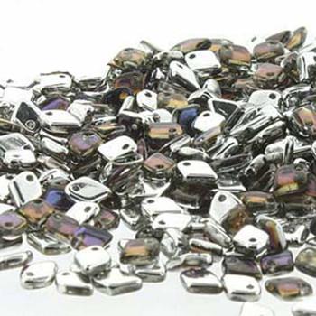 Crystal Bermuda Blue Czech Glass Dragon Scale Bead 1 5x5mm 9 5 Grams Drg329636-Tb