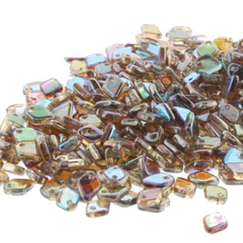 Crystal Brown Rainbow Czech Glass Dragon Scale Bead 1 5x5mm 9 5 Grams Drg398532-Tb