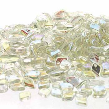 Green Rainbow Czech Glass Dragon Scale Bead 1 5x5mm 9 5 Grams Drg398539-Tb