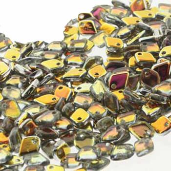 Crystal Marea Czech Glass Dragon Scale Bead 1 5x5mm 9 5 Grams Drg328001-Tb