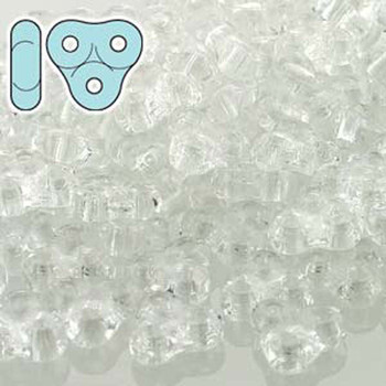 Crystal 6mm Trinity 3-Hole Czech Glass Beads 8 Grams Trt36-00030-Tb