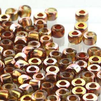 Matubo Czech Glass Seed Beads 7/0 (3.5mm) 50 Grams 1.5mm Hole (Topaz Gold Capri)