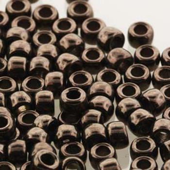 Matubo Czech Glass Seed Beads 7/0 (3.5mm) 50 Grams 1.5mm Hole (Jet Copper Luster) Mtb07-23980-14435