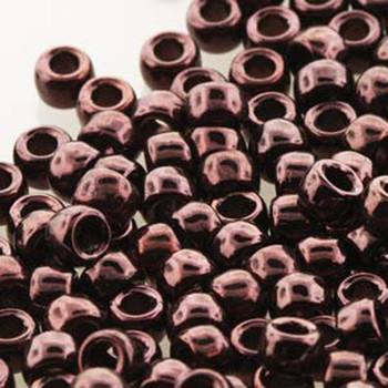 Matubo Czech Glass Seed Beads 7/0 (3.5mm) 50 Grams 1.5mm Hole (Vega on Jet)