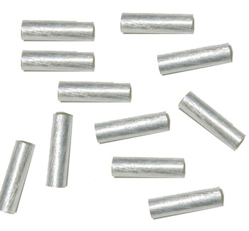 4x15mm Strait Tube Beads Silver Plated Copper 2.7mm Hole 24 Pcs Ba-K-3883