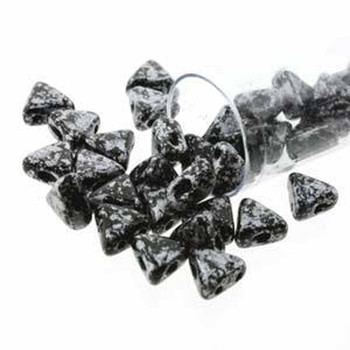 Tweedy Silver 9 Gram Kheops Par Puca 6mm 2 Hole Triangle Czech Glass Beads Khp06-23980-45702-Tb
