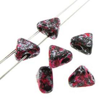 Tweedy Pink 9 Gram Kheops Par Puca 6mm 2 Hole Triangle Czech Glass Beads Khp06-23980-45708-Tb