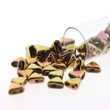California Pink 9 Gram Kheops Par Puca 6mm 2 Hole Triangle Czech Glass Beads Khp06-00030-98544-Tb