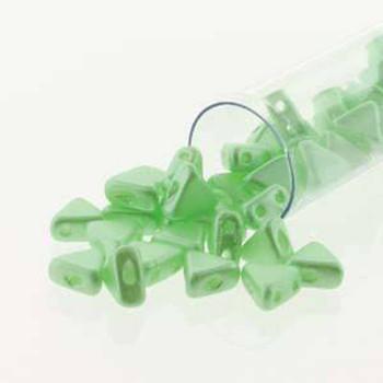 Pastel Light Peridot 9 Gram Kheops Par Puca 6mm 2 Hole Triangle Czech Glass Beads Khp06-02010-25023-Tb