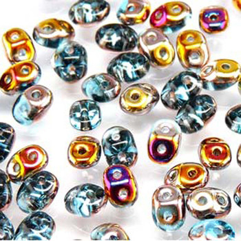 Aqua Sliperit 2x4mm 2 Hole Bead 8 Grams Superduo Miniduo Du0460020-29500-Tb