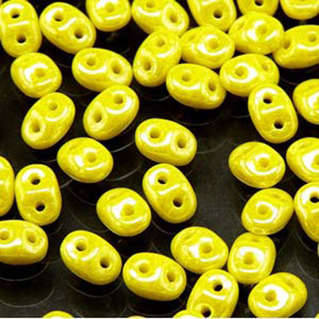 Lemon Luster 2x4mm 2 Hole Bead 8 Grams Superduo Miniduo Du0483120-14400-Tb