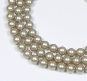 "100 Swarovski Crystal Pearls 6mm Round Beads 5810. 24"" Loose Strand Platinum 581006Plat"