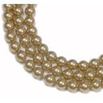 "100 Swarovski Crystal Pearls 4mm Round Beads 5810. 16"" Loose Strand Bronze"