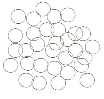 400 Jump Rings Silver-Plated Brass 12mm Round 21 Gauge. Open 10.5mm Inside Z-G-080526051911-Sp