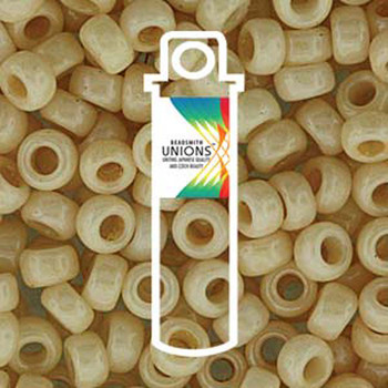 White Opaque Champaigne Luster Unions 6/0 Seed Beads Round Rocailles 20 Grams 06-402-14413-Tb