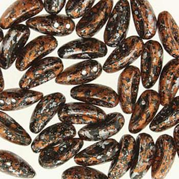 Tweedy Copper 40 Chilli 2-Hole 4x11mm Czech Glass Beads Chl41123980-45703