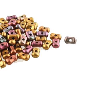 Violet Rainbow Farfalli 3.2x6.4mm Peanut Czech Glass Beads 19 Grams Hp-Frf3600030-01640-19G