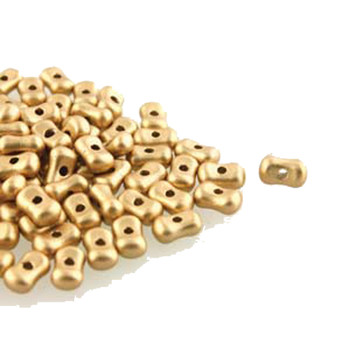 Pale Gold Farfalli 3.2x6.4mm Peanut Czech Glass Beads 19 Grams Hp-Frf3600030-01710-19G