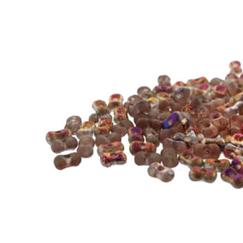Etch Crys Sliperit Farfalli 3.2x6.4mm Peanut Czech Glass Beads 19 Grams Hp-Frf3600030-29500Et-19G