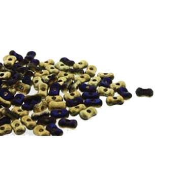 Etch California Blue Farfalli 3.2x6.4mm Peanut Czech Glass Beads 19 Grams Hp-Frf3623980-98548Et-19G