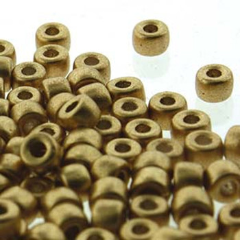 Matubo Czech Glass Seed Beads 6/0 (4.1mm) 8 Grams 1.6mm Hole CrystalBronze Gold Mtb06-00030-01710-Tb