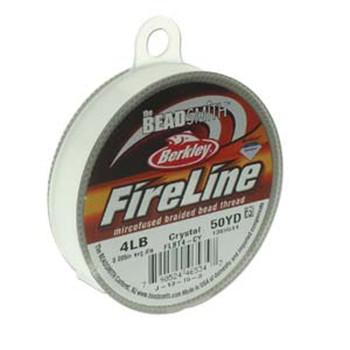 """4Lb Beadsmith Burkley Fireline Braided Bead Thread .005"""" .12mm Crystal Fl04Cr50"""