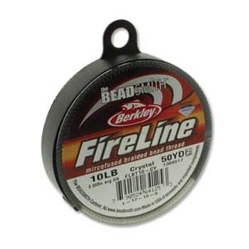 """10Lb Beadsmith Burkley Fireline Braided Bead Thread .008"""" .2mm Crystal Fl11Cr50"""