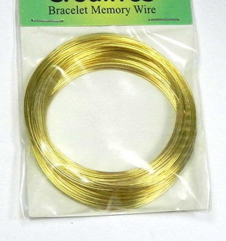 "Memory Wire Gold 304 Stainless Steel 2-1/4"" Bracelet 0.75mm 1 Ounce Apx 50 Loops. 2081Bs"