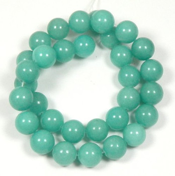 "10mm Amazonite Dyed Round Beads 15"" Loose Stand Gemstone Tone 1B-10D51"