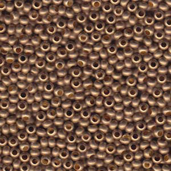 Genuine Metal Seed Beads 6/0 Matte Gilding Metal 28 Grams Mt6-Glmmt-Tb