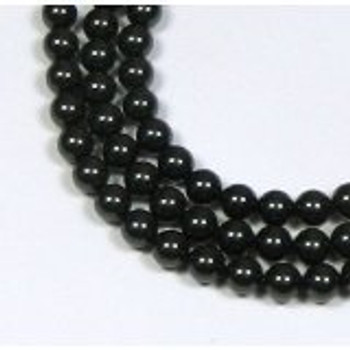 "200 Swarovski Pearls 3mm Round Beads 5810. 24"" Loose Strand Mistic Black"