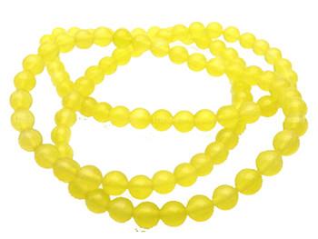 8mm Round Yellow Chalcedony Gemstone Beads 15 Inch Beads 1B-8B92
