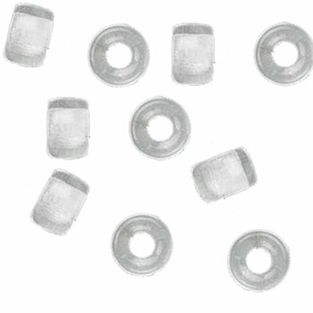 Crystal Clear 10Pc Czech Glass Macrame & Leather Crow Beads 9x4mm 3mm Hole H20-4200Md