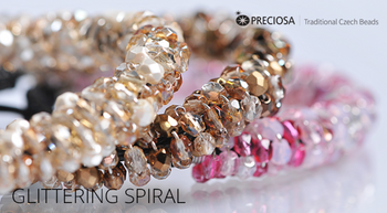 Glittering Spiral Free Jewelry Tutorial from Preciosa with Firepolish Glittering Spiral