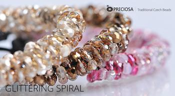 Glittering Spiral Free Jewelry Tutorial from Preciosa with Firepolish Glittering Spiral