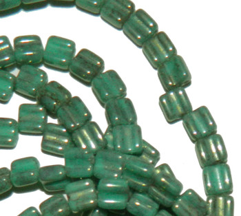 Groovy 6mm Czchmate Glass Czech Two Hole Gr Turquoise Lumi 30 Beads Grv0663130-15495