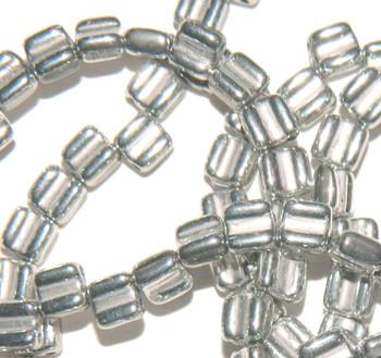 Groovy 6mm Czchmate Glass Czech Two Hole Bronze Aluminum 30 Beads Grv0600030-01700