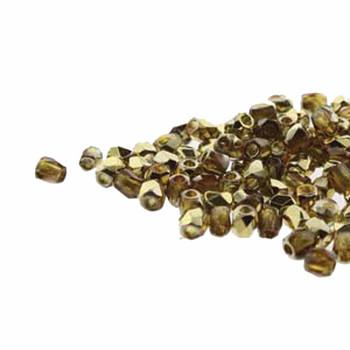 FirePolish True2S 2mm Czech Glass Topaz Amber 600 Beads Fpr0210060-26441
