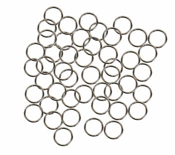 50 Jump Rings Steel Tone Plated Brass 12mm Round Approx 16 Gauge. 9.6mm Inside Ac-080527040639-Np