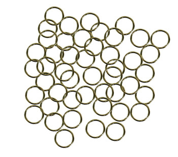 50 Jump Rings Antiqued Brass Plated Brass 12mm Round 9.6mm Inside 16 Ga Ac-080527040639-Ag