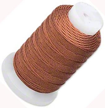 Silk Beading Thread Cord Size E Brown 0.0128 Inch 0.325mm Spool 200 Yd 5187Bs