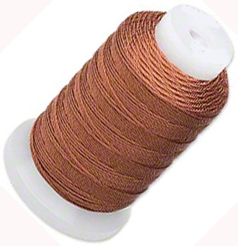 Silk Beading Thread Cord Size E Brown 0.0128 Inch 0.325mm Spool 200 Yd