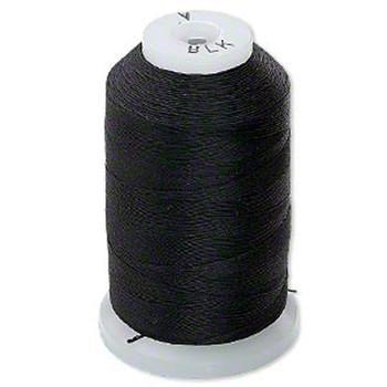 Silk Beading Thread Size A 0.007 Inch 0.177mm Spool 425 Yd (Black) H20-5224Bs