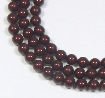 "200 Swarovski Pearls 3mm Round Beads 5810. 24"" Loose Strand Bordeaux 581003Bord"""