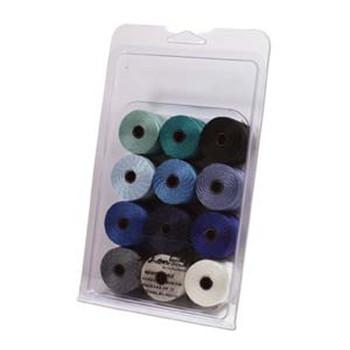 12 Super-Lon #18 Nylon Beading Jewelry Stringing Cord S-Lon Winter Mix Slbc-Mix20