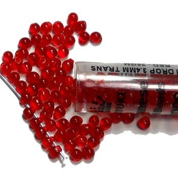 Red Miyuki 3.4mm Fringe Seed Bead Glass Tear Drops 20 Gram Dp-9140-Tb