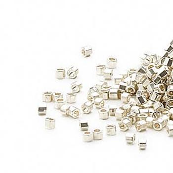 "50 Grams Galvanized Silver (Db1) Delica ""Cut"" Myiuki 11/0 Seed Bead 3595Sb"
